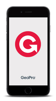 GeoPro is compatible with your iPhone or Android smartphone
